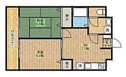 ソレーユハイム[2階]の間取り