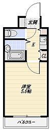 レクセル新狭山[216号室]の間取り