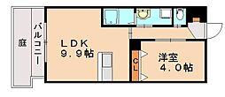 Flowers Cabin[1階]の間取り