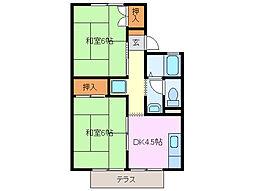 ノースエトランゼ B棟[1階]の間取り