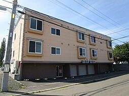 北海道札幌市北区篠路一条1丁目の賃貸アパートの外観