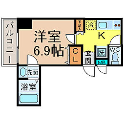 愛知県名古屋市中村区則武本通2丁目の賃貸マンションの間取り