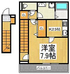 リブリ・コンフォート萩山[2階]の間取り