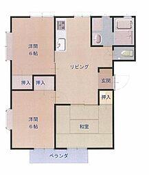 徳島県板野郡藍住町富吉字豊吉の賃貸アパートの間取り