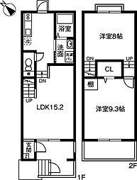 [テラスハウス] 愛知県岡崎市羽根北町2丁目 の賃貸【/】の間取り