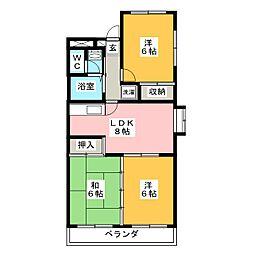 プロムナード洲崎I[3階]の間取り