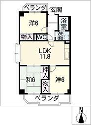 マンション桂[3階]の間取り