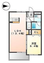 グレ−スコ−ト神戸[2階]の間取り