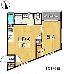 アイレガリアI(我孫子市台田新築アパート) 1階1LDKの間取り