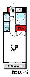 キャンパスシティ太宰府[213号室]の間取り