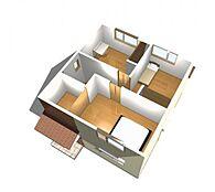 間取図例の2Fパース。お客様のご要望をお伺いしてプランを作成することも可能です。