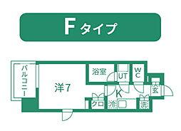 仙台市営南北線 北四番丁駅 徒歩11分の賃貸マンション 5階1Kの間取り
