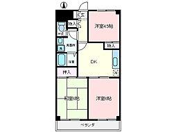 キャプテン塚田[2階]の間取り
