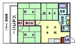 サンシティー古賀[2階]の間取り