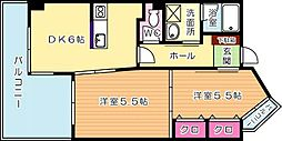 ピュアライフ砂津[402号室]の間取り
