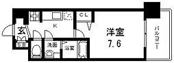Osaka Metro中央線 緑橋駅 徒歩6分の賃貸マンション 2階1Kの間取り