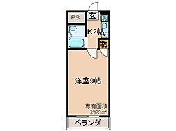 京都府京都市伏見区新町の賃貸マンションの間取り