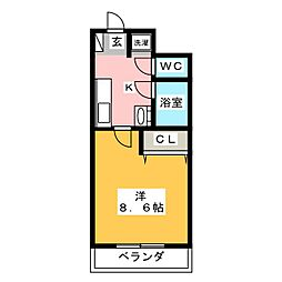 ライフ第6マンション藤枝駅前[3階]の間取り