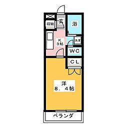 プリベール仙台21[1階]の間取り