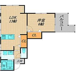 グランパレ ドミール[2階]の間取り