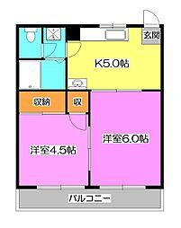 山田カンプレックス[1階]の間取り