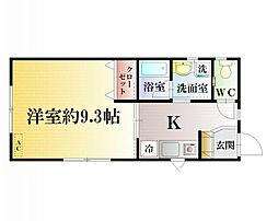 Iハウス[2階号室]の間取り