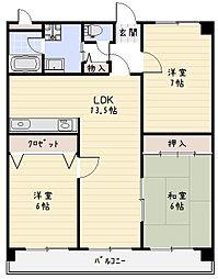 パストラール[3階]の間取り
