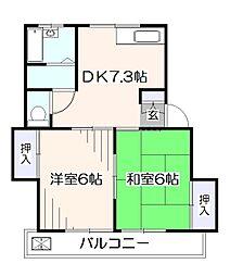 メゾンニシカワ[2階]の間取り