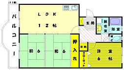 福岡県福岡市東区塩浜1丁目の賃貸マンションの間取り