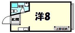 生田マンション[3階]の間取り
