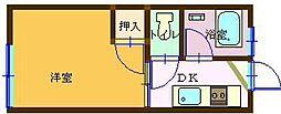 田野コーポ[103号室]の間取り