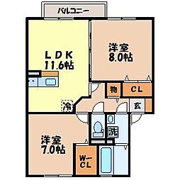 グランド ソレイユ[2階]の間取り