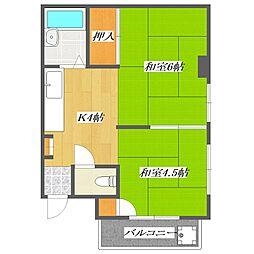 Skyward Nishikasai[2階]の間取り
