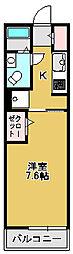 大阪府堺市西区鳳東町4丁の賃貸アパートの間取り