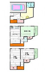 [一戸建] 大阪府茨木市北春日丘1丁目 の賃貸【/】の間取り