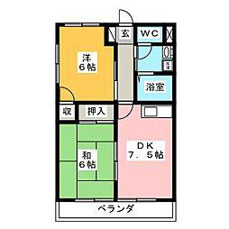 Excelsior西多賀[3階]の間取り