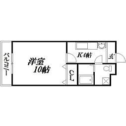 静岡県浜松市北区根洗町の賃貸マンションの間取り