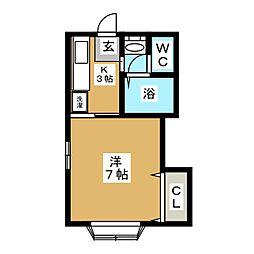 せぴあII[2階]の間取り