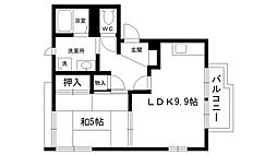サンライズ夙川[201号室]の間取り