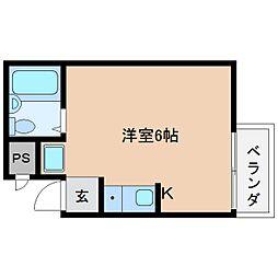 奈良県桜井市桜井の賃貸マンションの間取り