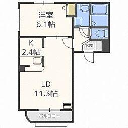 サンクレメンテVII[2階]の間取り