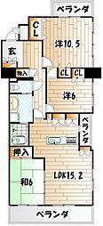 メディックス三萩野レジデンシャルタワー[19階]の間取り