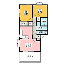NWSII[1階]の間取り