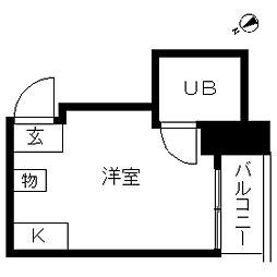 TOP・鶴見[0304号室]の間取り