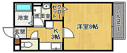 兵庫県宝塚市仁川北3丁目の賃貸アパートの間取り