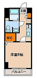 ステーションフロント八幡宿[504号室]の間取り