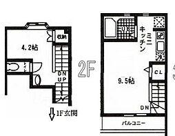 京王線 初台駅 徒歩4分の賃貸マンション 2階1LDKの間取り