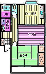 埼玉県さいたま市中央区上落合3丁目の賃貸アパートの間取り