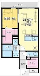 西麻布YKマンション[3階]の間取り