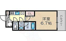 Osaka Metro御堂筋線 東三国駅 徒歩7分の賃貸マンション 10階1Kの間取り